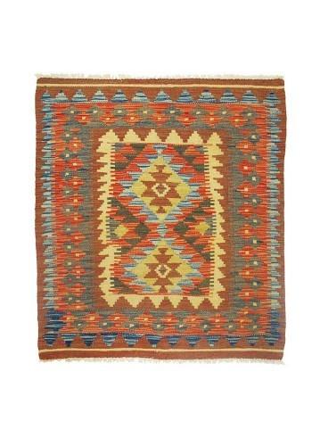 Kilim afgano artesanal de lana 102x91cm