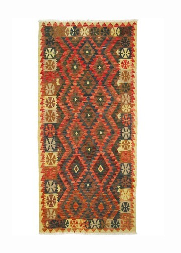 KILIM PAKISTANÍ de lana artesanal 204x97cm