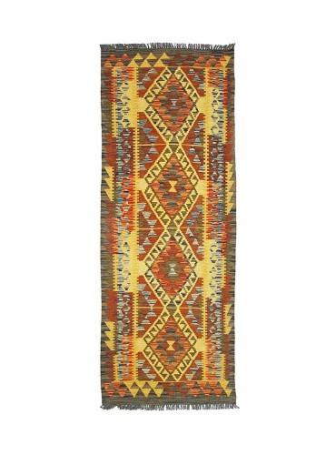 Kilim afgano pasillero de lana 173x65cm
