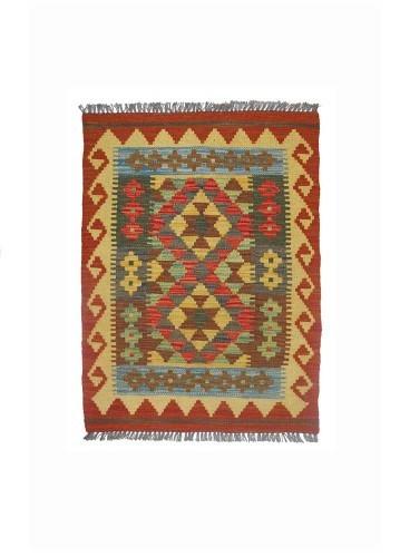 Kilim afgano artesanal de lana barato 89c65cm