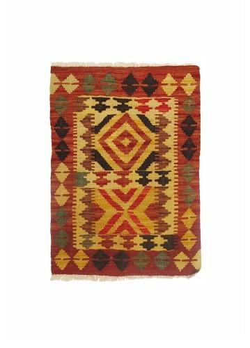 Kilim afgano artesanal de lana 79x58cm