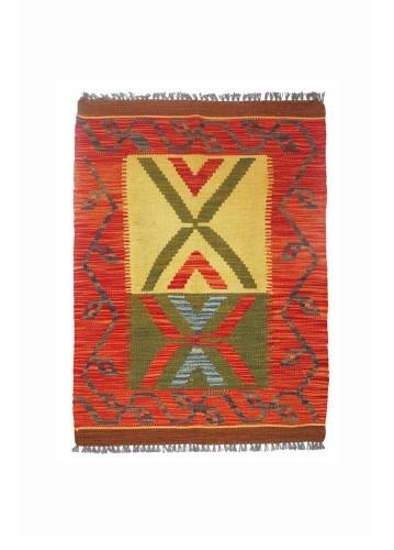 Kilim afgano artesanal 88x63cm