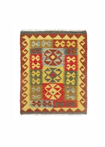 Alfombra kilim afgano de lana 83x59cm
