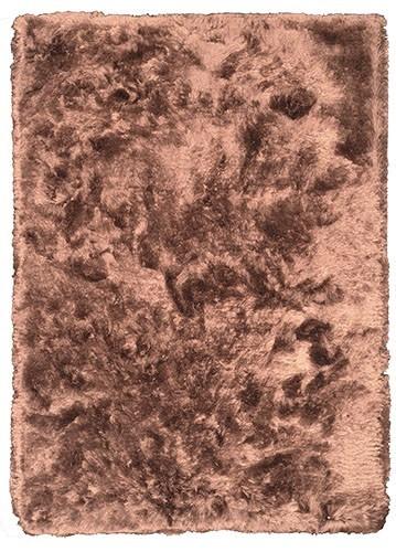 Alfombra shaggy ZANCARA marrón 70x140 barata