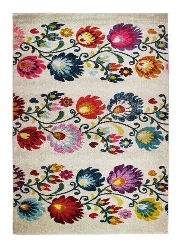Alfombra moderna diseño 24 flores 160x230