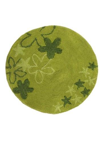 Alfombras redondas para decorar diferentes espacios for Alfombra redonda verde
