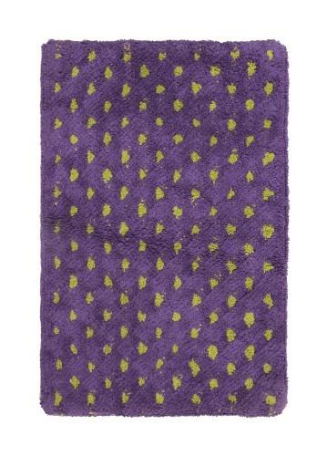 Alfombra de baño puntos lila 45x70cm