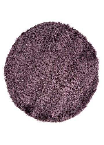 Alfombra lambre pelo largo redonda lila for Alfombras persas redondas