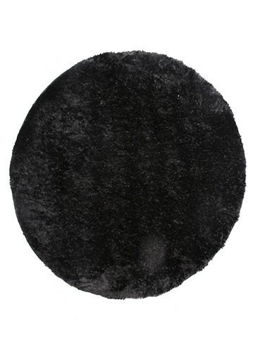 ALFOMBRA LAMBRE REDONDA 180CM negro