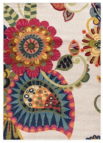 Alfombra moderna flores 06 70x140 for Precios alfombras persas originales