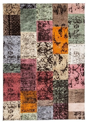 alfombra moderna patch multicolor - Alfombra Moderna
