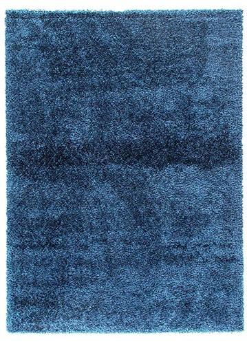 Alfombra de pelo corto gema azul petroleo 67x140 for Alfombras persas redondas