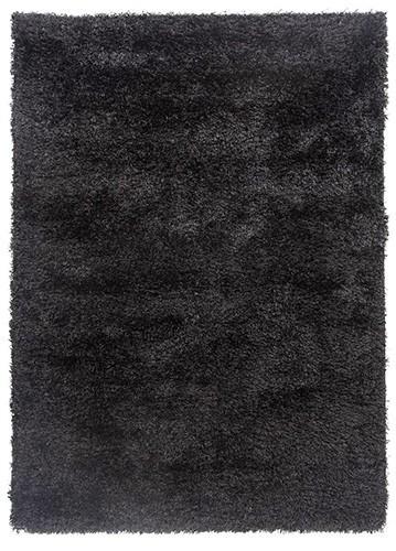 Alfombra de pelo largo brisa negro 57x120 for Alfombra negra pelo largo