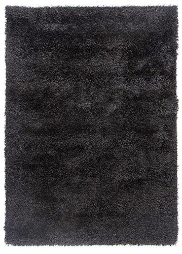 Alfombra De Pelo Largo Brisa Negro 57x120