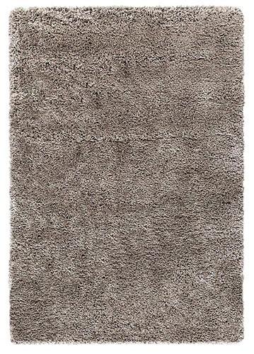 Alfombra Moderna De Pelo Largo Soft Plata 80x150