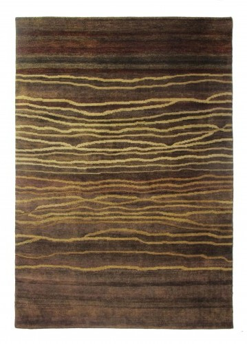 ALFOMBRA PERSA TRIBAL DARK BROWN