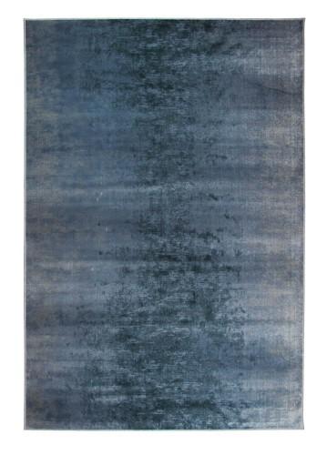 Alfombra de viscosa Flandes azul 67x135cm