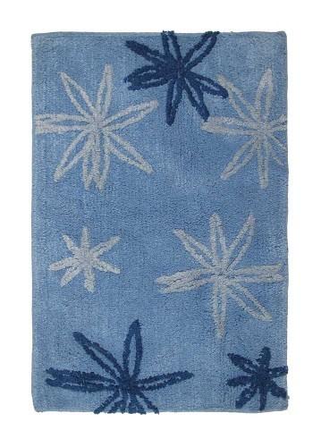 Alfombra de baño Flores azul 45x70cm