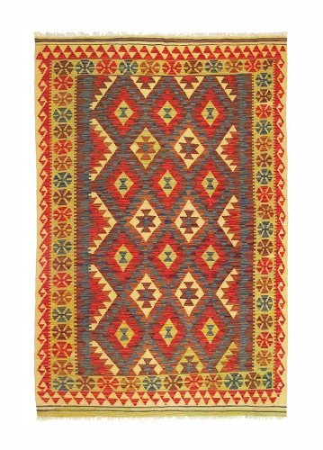 Kilim afgano artesanal de lana 210x140cm