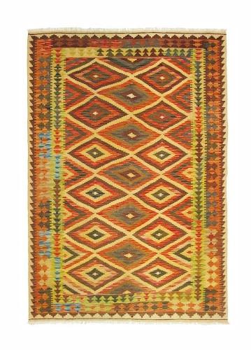 Kilim afgano artesanal 200x143cm barato