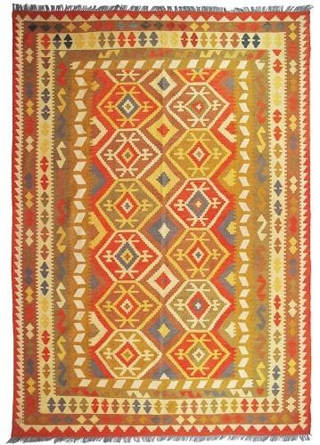 kilim afgano artesanal de lana 297x189cm