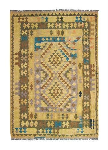 Kilim afgano beige de lana 207x151
