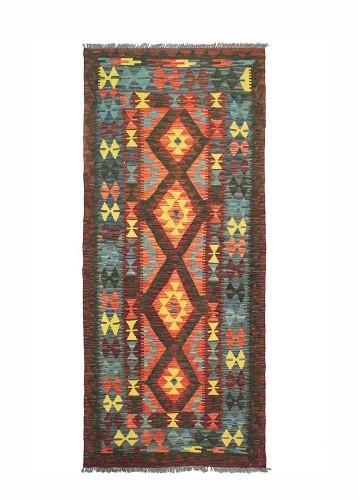 Alfombra kilim afgano de lana 200x92cm
