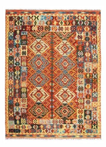Kilim afgano artesanal 239x181cm barato
