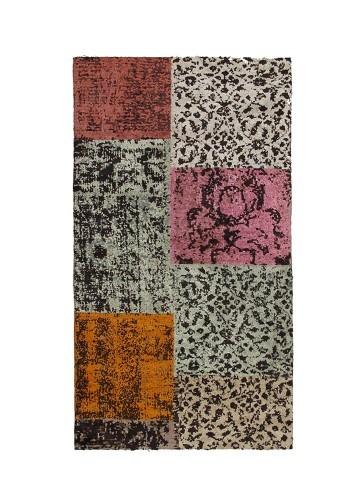 Alfombra moderna patchwork multicolor 70x140cm