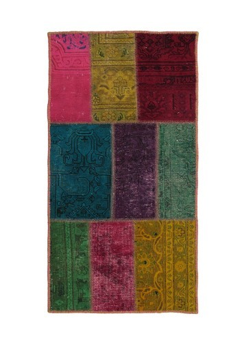 Alfombra patch persa patchwork multicolor 70x140