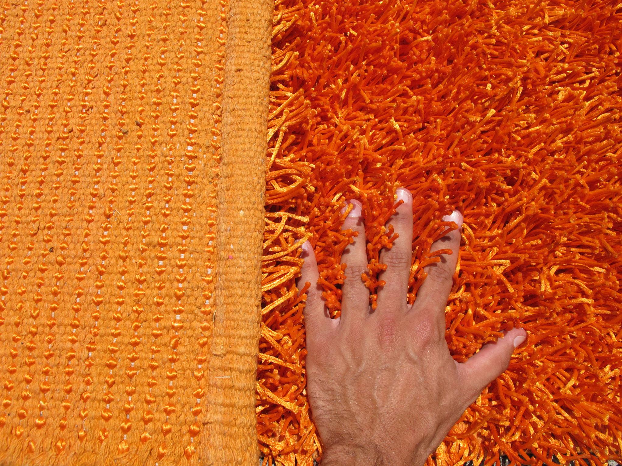 Alfombra shaggy Ganges naranja 120x180